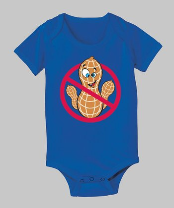Royal Blue 'No Peanuts' Bodysuit - Infant