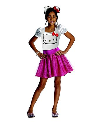 Pink & White Hello Kitty Dress-Up Outfit - Toddler & Girls