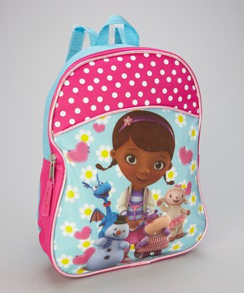 Pink Polka Dot Doc McStuffins Backpack