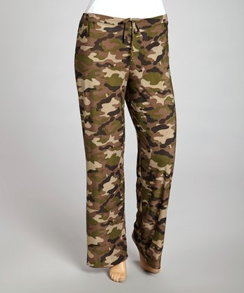 Olive Camo Lounge Pants - Plus