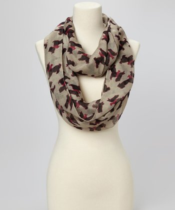 Taupe Scotty Dog Scarf