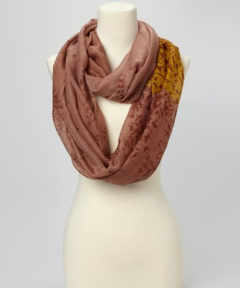 Brown Bird Infinity Scarf