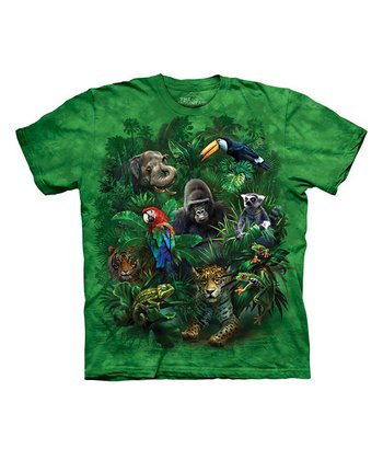 Green Jungle Friends Tee - Toddler & Kids