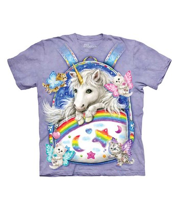 Purple Backpack Unicorn Tee - Toddler & Kids