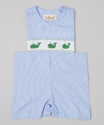 Blue Gingham Whale John Johns  - Infant