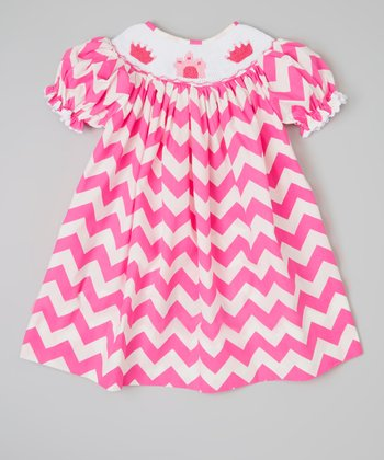 Pink Princess Zigzag Bishop Dress - Infant & Toddler