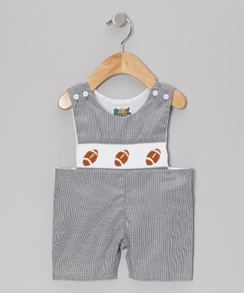 Black Football Gingham John Johns - Infant