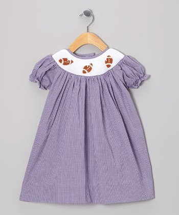 Purple Football Dress - Infant & Toddler