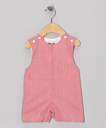 Red Gingham Shortalls - Infant
