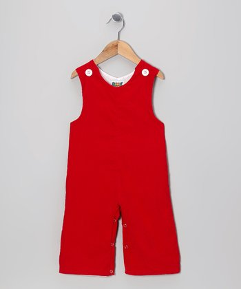 Red Corduroy Overalls - Infant