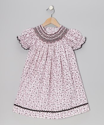 Pink Flower Geo Bishop Dress - Infant & Toddler