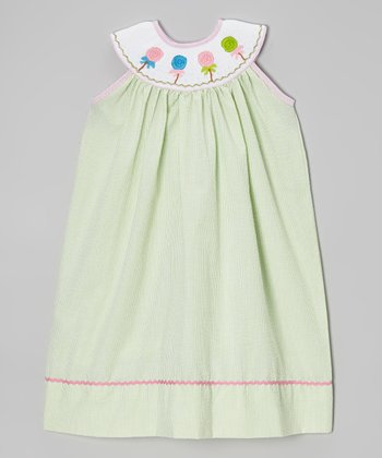 Lime Green Lollipop Smocked Dress - Infant, Toddler & Girls