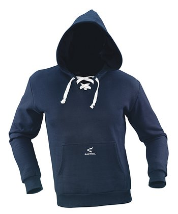 Navy Team Lace-Up Hoodie