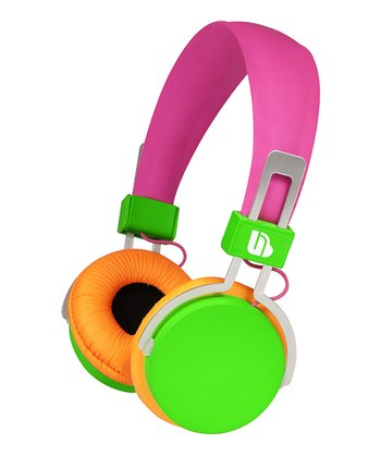 Green & Orange Urban Beatz Neon Headphones