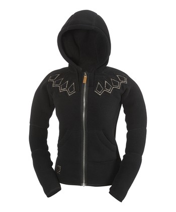 Black Frost Hooded Fleece Jacket - Women