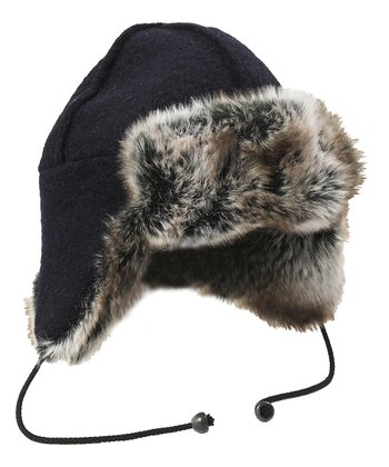 Black Kaldi Wool-Blend Arctic Hat
