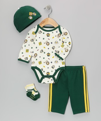 Green All-Star Bodysuit Set - Infant