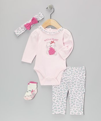 Pink Wild at Heart Bodysuit Set - Infant