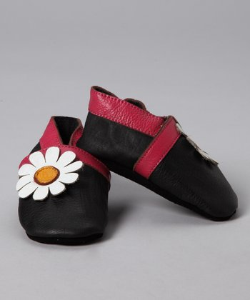 Black & White Daisy Booties