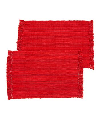 Red Nautical Place Mat - Set of Four