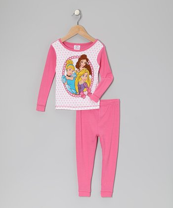 Pink Princess Frame Pajama Set - Infant