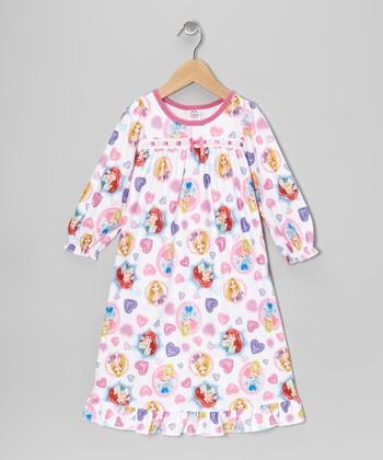 White & Pink Princess Nightgown - Toddler