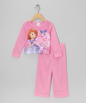 Pink 'Sweet Sofia' Pajama Set - Toddler