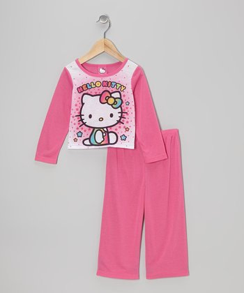 Pink Sitting Hello Kitty Pajama Set - Toddler