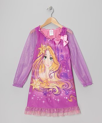 Dark Pink Rapunzel Nightgown - Girls
