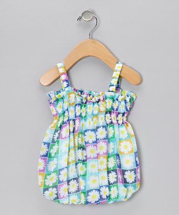 Blue Daisy Bubble Dress - Infant