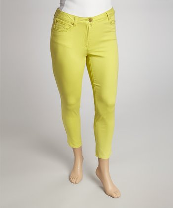 Citrus Green Capri Pants - Plus