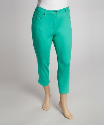 Green Capri Pants - Plus