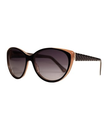 Black & Nude Savannah Cat-Eye Sunglasses