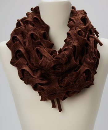 Brown Carwash Infinity Scarf