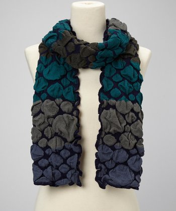 Navy & Gray Bubble Scarf