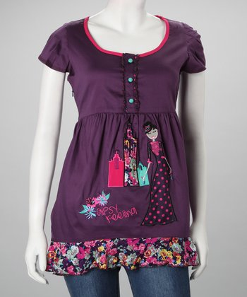 Purple Greta Top - Women