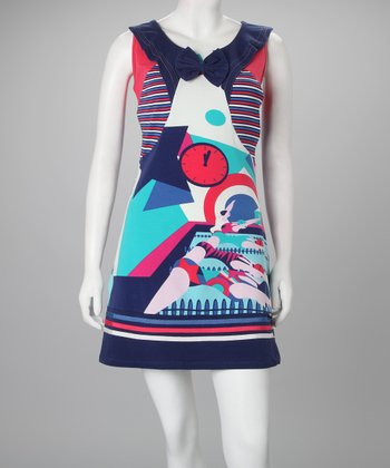 Navy Harlow Dress - Women
