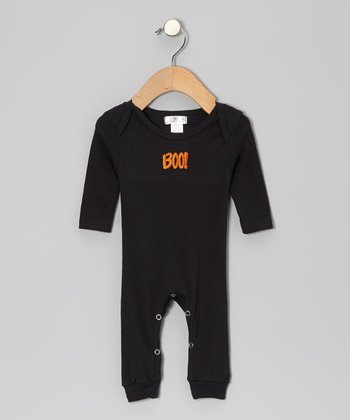 Black 'Boo!' Playsuit - Infant