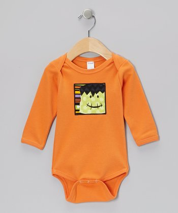 Orange Frankenstein Bodysuit - Infant