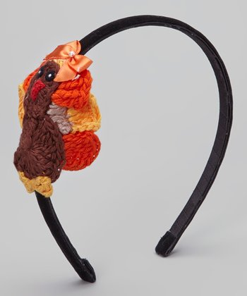 Black & Brown Knit Turkey Headband