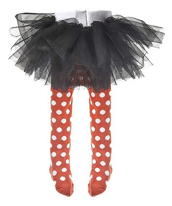 Black & Orange Skirted Leggings - Infant