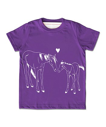 Violet Horse Organic Tee - Infant, Toddler & Girls