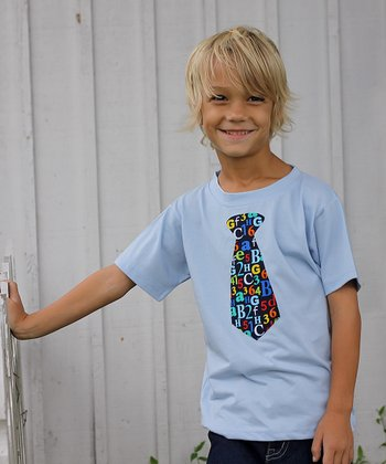 Light Blue Tie Tee - Infant, Toddler & Boys