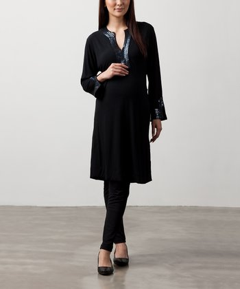 Black Astrid Maternity Dress