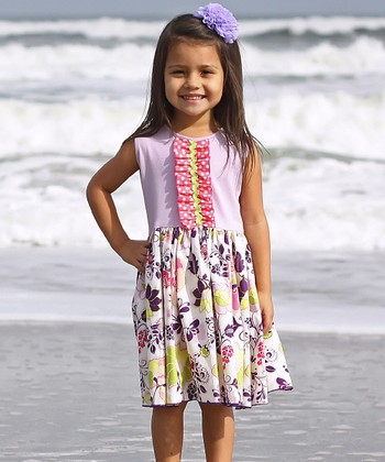 Pink & Purple Elsie A-Line Dress - Infant, Toddler & Girls