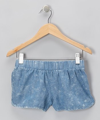 Chambray Pin Dot Shorts