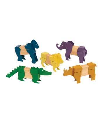 Safari Animal Block Mates Set