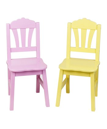 Pink & Yellow Harmony Chair Set