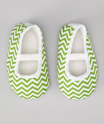 Green Zigzag Booties