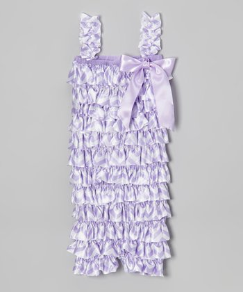 Lavender Zigzag Ruffle Romper - Infant & Toddler